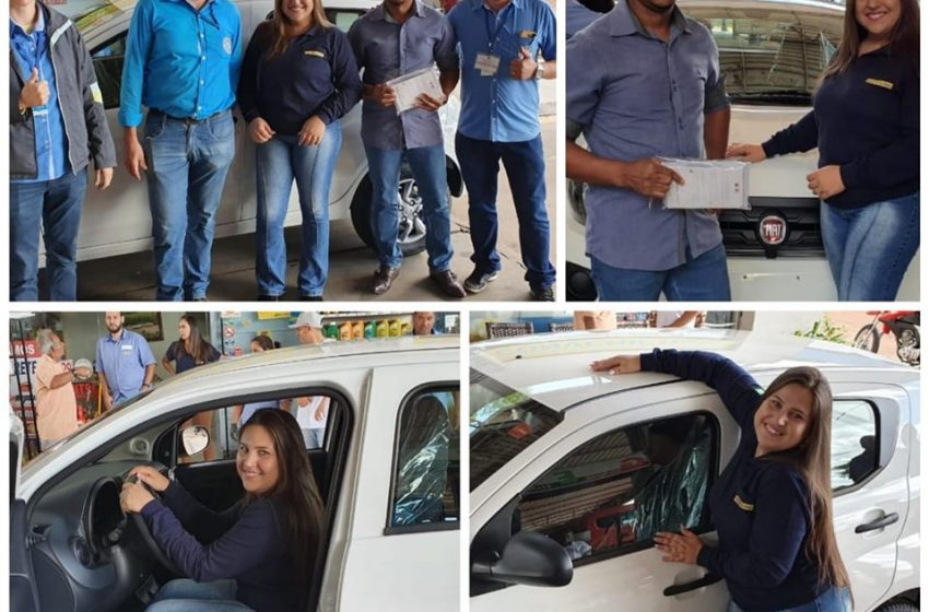 Entrega do carro Fiat Mobi 0km.